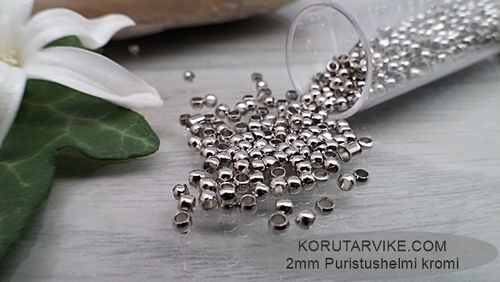 Puristushelmi 2mm kromi 25g