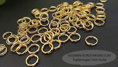 Tuplarengas 10mm kulta 10g