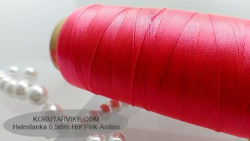 Helmilanka 0,5mm hot pink 500m ERIKOISHINTA !