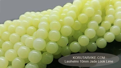 Lasihelmi 10mm Jade Look Lime 40kpl