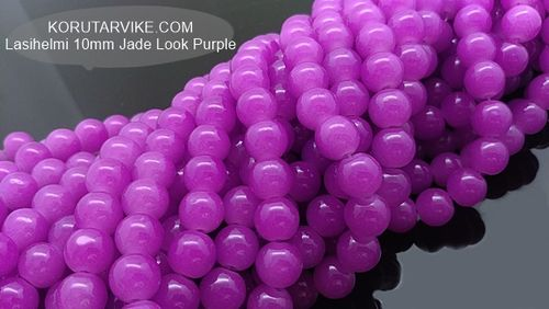 Lasihelmi 10mm Jade Look Purple 40kpl
