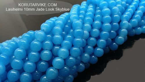 Lasihelmi 10mm Jade Look Sky Blue 40kpl